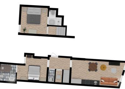 Luxe King Apartment 04 Floor plan