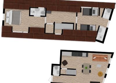 Floor plan Luxe King Apartment 06