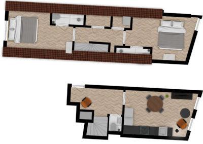 Floor plan Queen Apartment